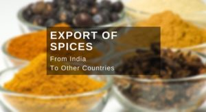 how to export spices